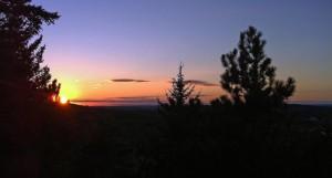 Sunset on Mount Desert Island, Mane in the Acadia National Park