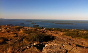 The high point on Mount Desert Island, Mane in the Acadia National Park