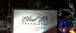 Christmas light show at Ethel M Chocolate factory