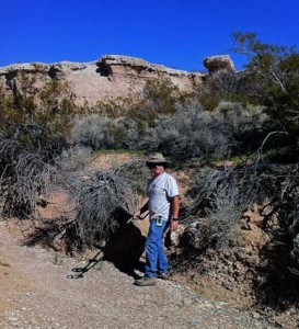 Metal detecting on the Old Spanish Trail