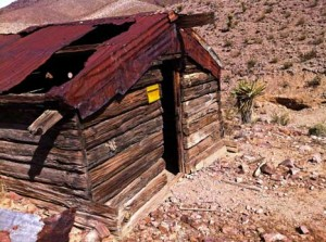 An old miner's cabin on our claim