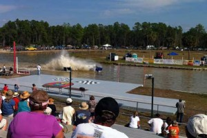 Swamp buggy race from the stands