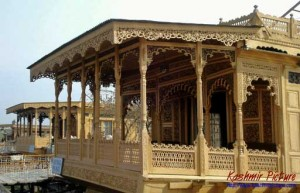 Example of an ornate houseboat in Srinagar