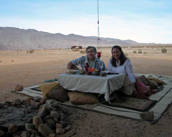 Valentine's Day picnic while boondocking at Anza-Borrego
