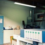 Our screen printing shop in Laguna Beach Ca.