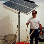 Installing a solar panel sun tracker and well pump