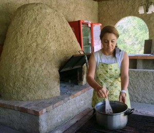 Eréndira prepares the Secret Sauce